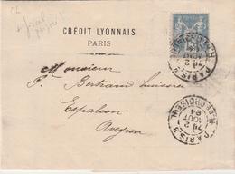 Sage Et Timbre Fiscal Avec Perforation Petit CL - Crédit Lyonnais Paris 1894 Choiseul - 4 Scans - France