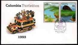 COLOMBIA- KOLUMBIEN - 1993. FDC/SPD. COLOMBIAN TOURISM - Colombie