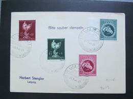 DR Nr. 900-903, 1944, Brief, Satzbrief, MiF, Sonderstempel Wallgau *DEL2155* - Alemania