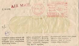 31007. Carta Aerea COLOMBO (Ceilan) 1978. Franqueo Mecanico - Sri Lanka (Ceilán) (1948-...)