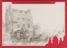 Four Mail Coaching Inns, London, 1984 - London Postal Region Postcards - London