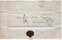 Précurseur Envoyé De Bruxelles Vers Anvers En 1840. Je N'y Connais Pas Grand Chose - 1830-1849 (Belgique Indépendante)