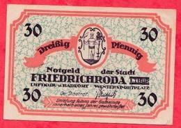 Allemagne 1 Notgeld De 30 Pfenning Stadt Friedrichroda Dans L 'état N °2665 - [ 3] 1918-1933: Weimarrepubliek