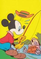 AK - Walt Disney - Micky Maus Beim Angeln - Comicfiguren