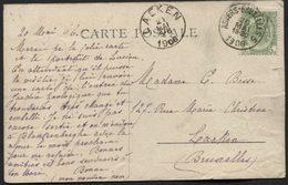 Ambulant ANVERS-BRUXELLES 5 S/CP Vers Laeken 1906. Trein Spoor - Postmark Collection