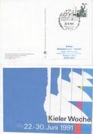 PP 151/128  Kieler Woche 22.-30. Juni 1991, Kiel 1 - Privé Postkaarten - Gebruikt