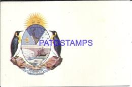 105910 ARGENTINA 1º VIAJE DE TURISMO A LA ANTARTIDA ANTARCTICA HERALDRY POSTAL POSTCARD - Argentinien