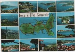 Isola D'Elba (Livorno) Souvenir, Con 12 Vedutine. Viaggiata 1967 - Livorno
