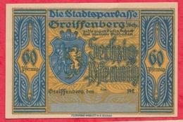 Allemagne 1 Notgeld De 60 Pfenning Stadt Greiffenberg (RARE) UNC N °2668 - [ 3] 1918-1933 : République De Weimar