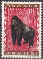 Ruanda-Urundi 1959 Michel 161A Neuf ** Cote (2005) 0.20 Euro Gorille - Ruanda-Urundi