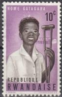 Rwanda 1964 Michel 71 O Cote (2005) 0.25 Euro Home Gatagara Cachet Rond - Rwanda