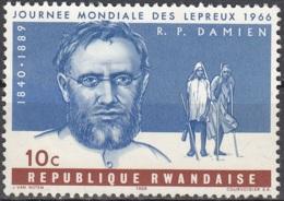 Rwanda 1966 Michel 143 O Cote (2005) 0.30 Euro Père Damien - Rwanda