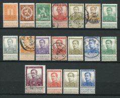 10545  BELGIQUE  N°108/25*/°   Albert 1er  Type Avec Nom Du Graveur    1912-13  TB - 1915-1920 Albert I