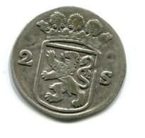 1736 Holland Dubbele Wapenstuiver Coin - [ 1] …-1795 : Période Ancienne