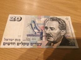 Israël, 20 New Shequalim Type Moshe Sharett, 1987 - Israel