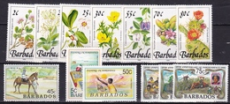 BARBADOS 1989-1991 Lot Of TOPICS Like Flowers Etc. MNH SG Between 921-968 - Barbados (1966-...)