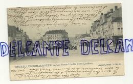 CPA. Bruxelles-Schaerbeek. La Place Liedts Vers Laeken. Carte Animée. Lagaert - Schaerbeek - Schaarbeek