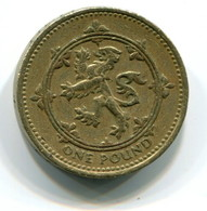 1994 Great Britain One Pound Coin - 1971-… : Monnaies Décimales