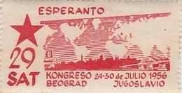 ESPERANTO 29 SAT KONGRESO 24 - 30 JULIO 1956 BEOGRAD - Esperanto