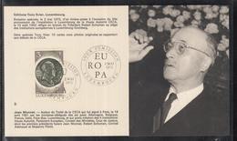 Éditions Tony Krier Luxembourg Serie Europe 1972 Jean Monnet - Maximum Cards