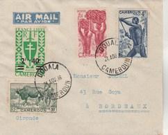 Cameroun Lettre DOUALA 24/8/1946 Pour Bordeaux Gironde - Kamerun (1915-1959)
