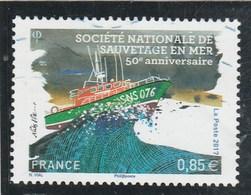FRANCE 2017 SAUVETAGE EN MER 50E ANNIVERSAIRE OBLITERE  YT 5151 - France