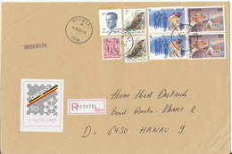 Belgium Big Size Registered Cover Sent To Germany Hechtel 4-12-1989 Good Franked - Belgium