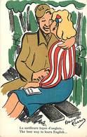 -ref-B395- Guerre 1939-45 - Humoristiques - Illustrateurs - Illustrateur Huguette Carron -lecon D Anglais- Amerique- Usa - Humoristiques