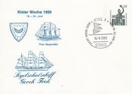 PP 152Y  D2/29 Kieler Woche 1990 16.-24. Juni - Segelschlschiff Gorch Fock, Kiel 1 - Privé Postkaarten - Gebruikt