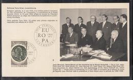 Éditions Tony Krier Luxembourg 1972 Jean Monnet, Rene Mayer, Et Les Membres De La Haute Autorite - Maximum Cards