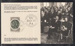 """Éditions Tony Krier Luxembourg 1972 Fete Du 10e Anniversaire De La Presentationdu """"Plan Schumann"""" - Maximum Cards"""