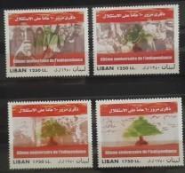 Lebanon 2003 Mi. 1438-1441 Complete Set 4v. MNH - Independence Day - Flag - Revolution - Lebanon