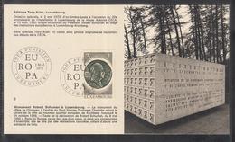 Éditions Tony Krier Luxembourg 1972 - Monument Robert Schumann à Luxembourg - Maximum Cards