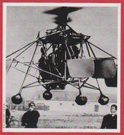 Oscar Asboth (1891-1960) Aux Commandes De L'hélicoptère Qu'il A Conçu Et Réalisé. Hongrie. Encyclopédie De 1970. - Vieux Papiers