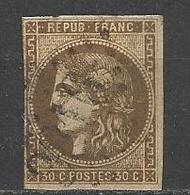 BORDEAUX N° 47 OBL Fort  Aminci - 1870 Emission De Bordeaux