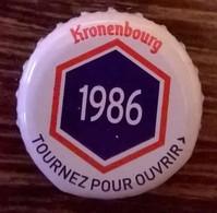 France Capsule Bière Crown Cap Beer Kronenbourg Les Années Qui Comptent 1986 - Bière