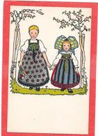 HANSI. Deux Petites Alsaciennes Se Tenant Par La Main - Hansi