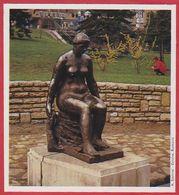 """"""" Femme Assise """" Par Beni Ferencsy. Budapest. Hongrie. Encyclopédie De 1970. - Oude Documenten"""