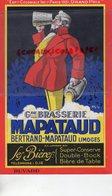 87 - LIMOGES - GRAND BUVARD BRASSERIE BERTRAND MAPATAUD-  EXPOSITION COLONIALE PARIS 1931- BIERES SUPER CONSERVE- - Buvards, Protège-cahiers Illustrés