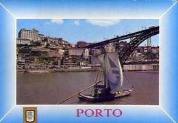 Porto - Portogal - Barco Rabelo E Ponte De D.luis - Formato Grande Viaggiata – E 9 - Porto