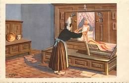 -ref-B383- Finistere - Illustrateurs - Illustrateur Geiger - D Après Gouaches Originales - Enfant Et Lit Clos - - France