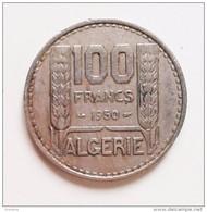 ALGERIE 100  FRANCS 1950        N °133D - Algérie