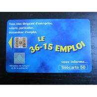 TELECARTE 50 :  LE 36-15 EMPLOI - Télécartes