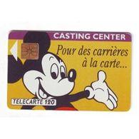 TELECARTE 120 : MICKEY CASTING CENTER - Télécartes
