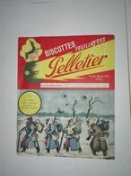 BUVARD BISCOTTES PELLETIER 1914 LA RELEVE DANS LA NEIGE PANDANT LA GRANDE GUERRE - Alimentaire