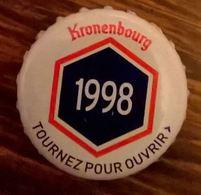 France Capsule Bière Crown Cap Beer Kronenbourg Les Années Qui Comptent 1998 - Bière