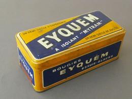 """Bougies """"EYQUEM"""" à Isolant Mytram, Boite (vide) Métal Lithographié. - Boîtes"""