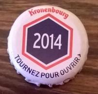 France Capsule Bière Crown Cap Beer Kronenbourg Les Années Qui Comptent 2014 - Bière