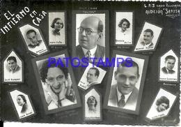 105945 ARGENTINA ARTIST RADIO EL INFIERNO EN CASA PHOTO NO POSTAL POSTCARD - Fotografie