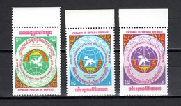 KAMPUCHEA  N° 439 à 441  NEUFS SANS CHARNIERE COTE 4.00€  LA PAIX EN ASIE - Kampuchea